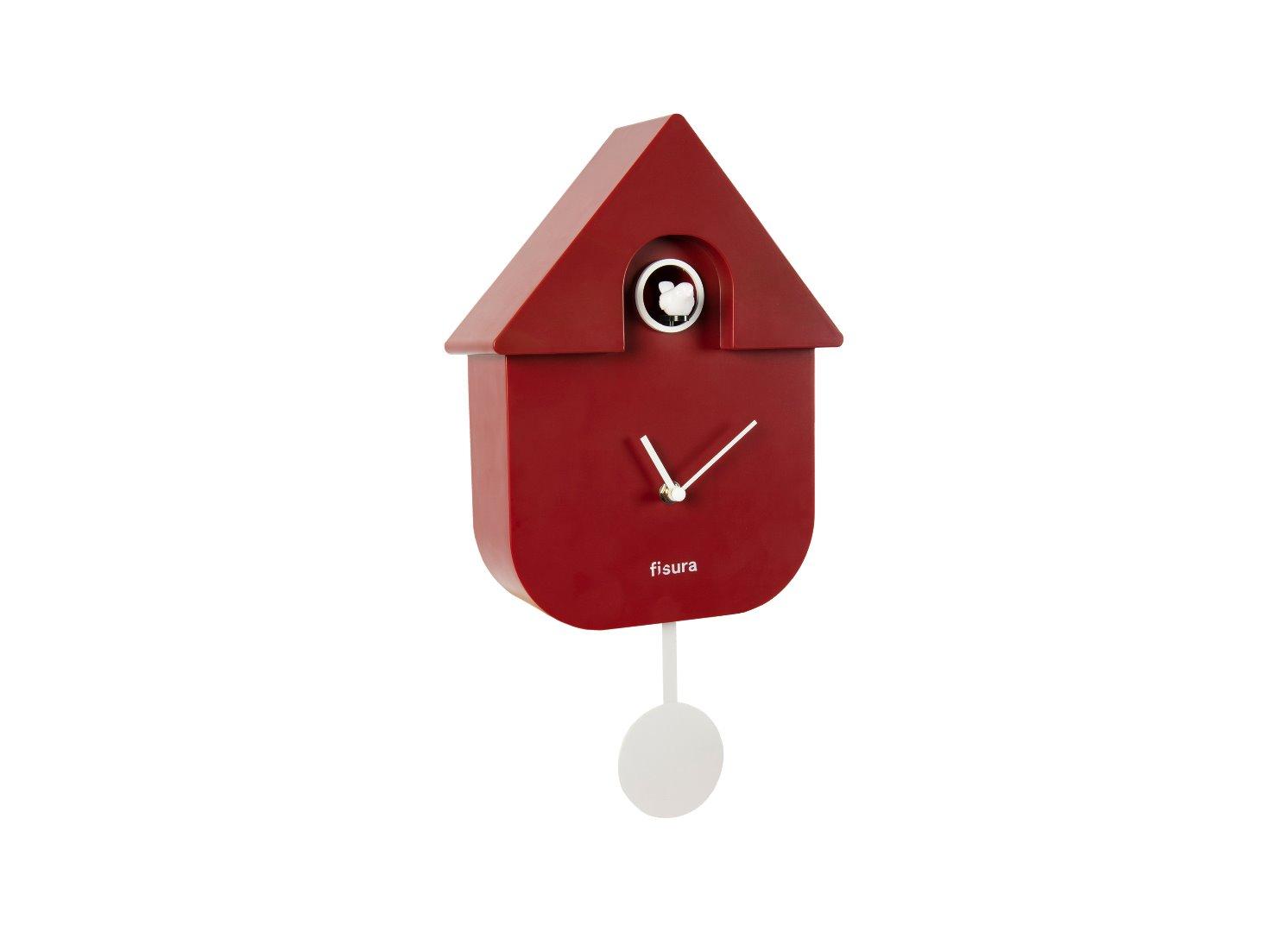 De Fisura Cuco Reloj Casa Pared Rojoblanco OPTXkZuwi