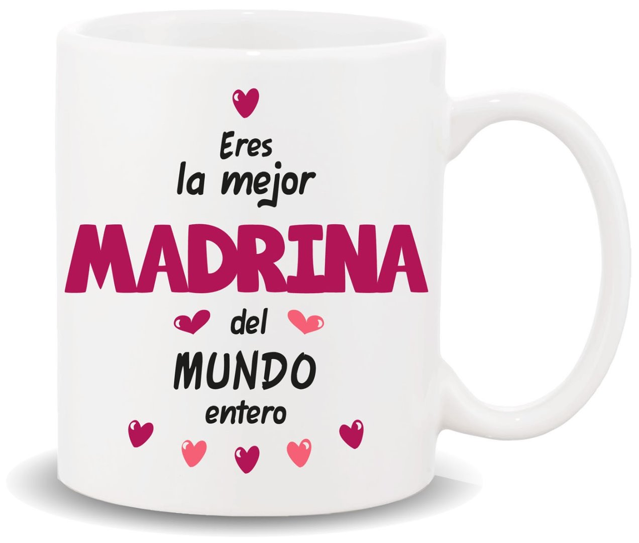 Tazas Madrinas y Padrinos - Eres La Mejor Madrina Del Mundo Entero