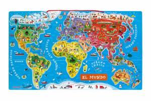 puzle-magnetico-atlas-mundial-en-espanol-92-piezas-madera 2