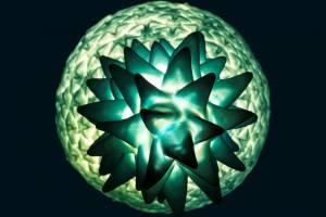 Piña Colada Lamp_Pastel_glacierblue_top_lit_hi_res
