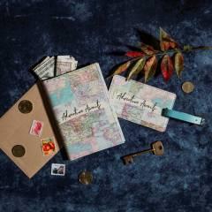 Funda para Pasaporte Sass & Belle + Etiqueta para Equipaje