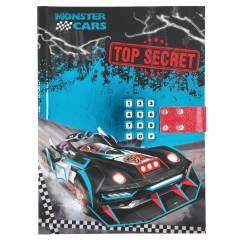Diario Con Código Secreto y Sonido Monster Cars