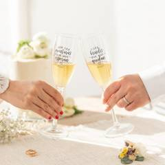 Set de 2 Copas Champán Mr.Wonderful - Especial Parejas y Bodas