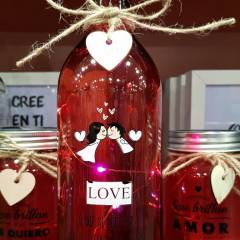 Botella de Cristal Especial San Valentín Edición Limitada
