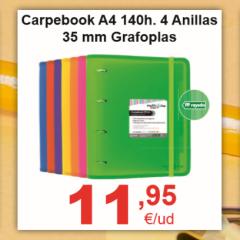 Carpebook Grafoplas A4 4 Anillas