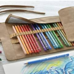 Estuche Enrollable 30 Lápices de Colores Acuarelables Faber Castell