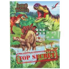 Diario Con Código Secreto y Sonido Dino World