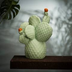 Lámpara cactus verde pálido