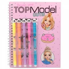 Cuaderno para Colorear TOPModel + Set De Rotuladores