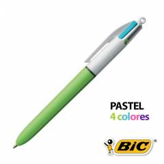 Bolígrafo BIC 4 Colores Pastel Fashion