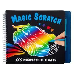 Monster Cars Magic-Scratch Book
