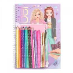 Cuaderno para Colorear TOPModel + Set De Colores