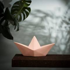 Lámpara barco rosa
