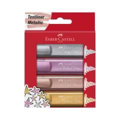 Subrayador Faber Castell Textliner Metálico