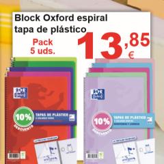 Libretas Oxford Espiral Tapa de Plástico