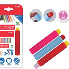 Portatizas + Caja de Tizas 12 Colores