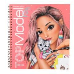 Cuaderno para Colorear y Pegatinas TOPModel