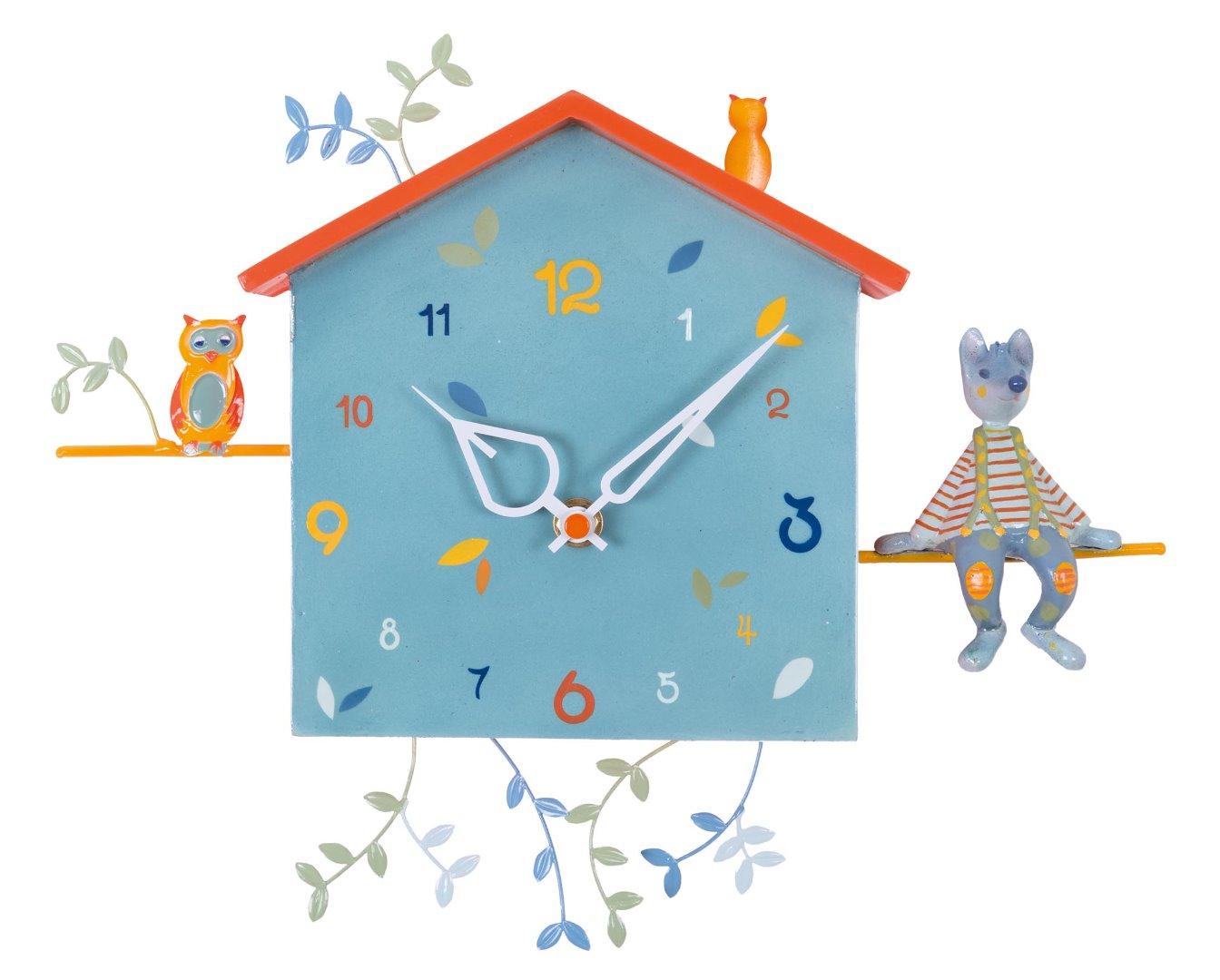 94879a7dce58 Reloj de pared infantil - El Lobo